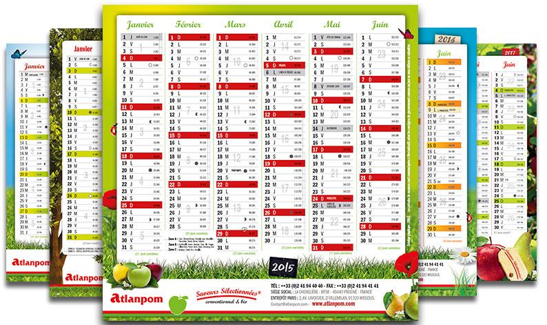Réalisation de calendrier