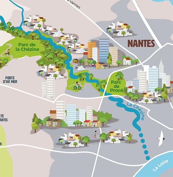 Plan carte de la Chézine