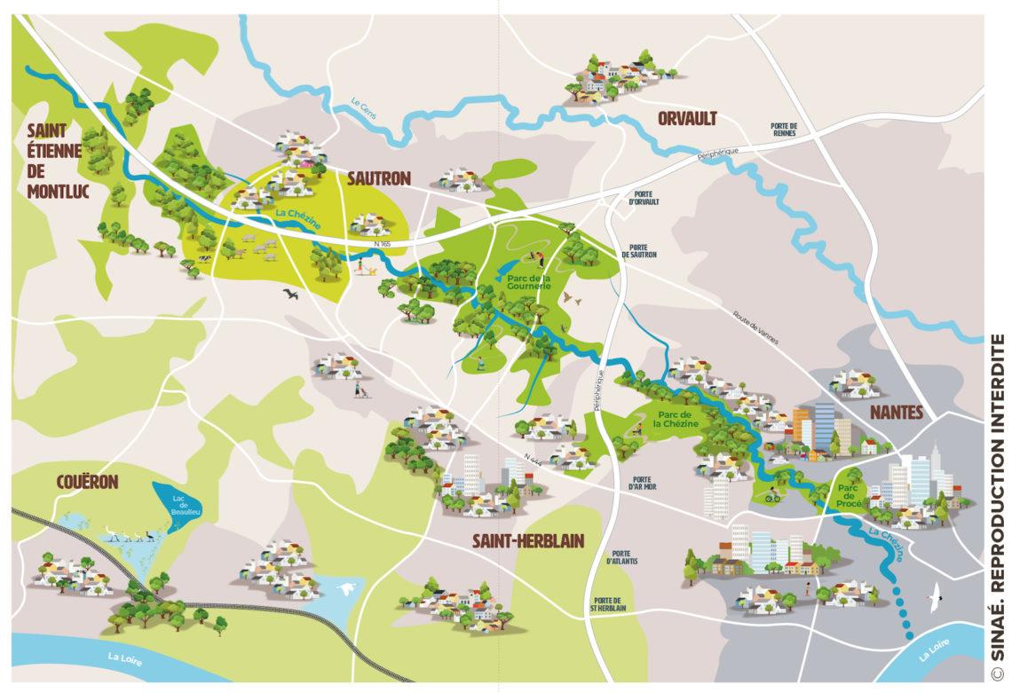 Carte rivière de la Chézine