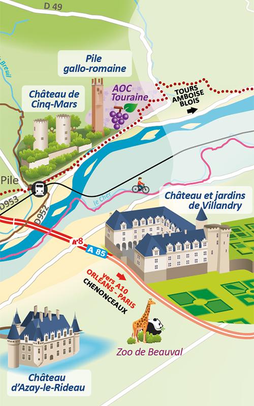 Carte touristique Touraine Nature