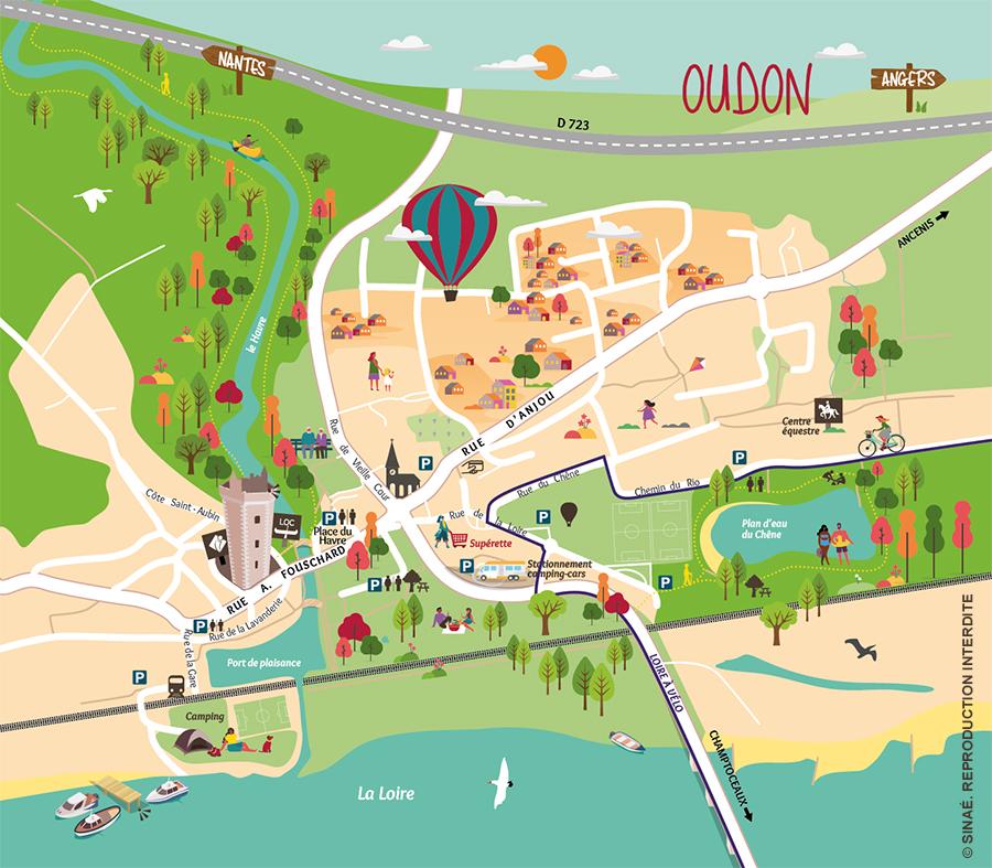 OUDON carte touristique